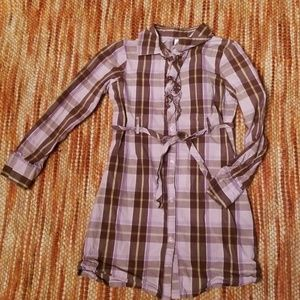 Girls 6 gymboree plaid shirt dress